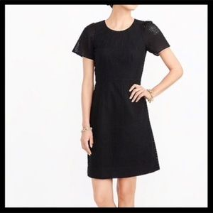 NWT J. Crew Flutter Sleeve Eyelet Dress